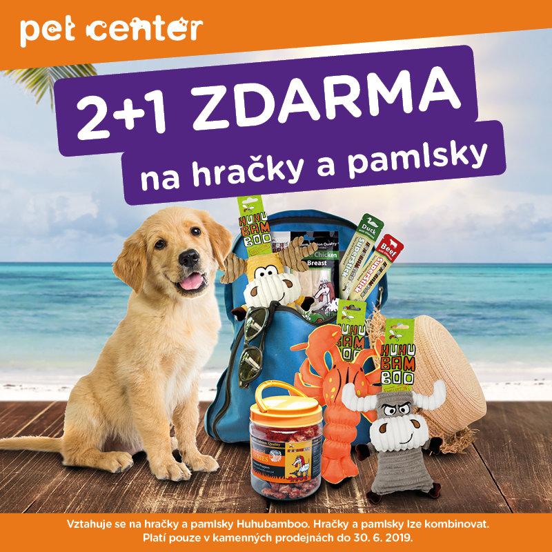 Akce 2+1 na hračky a pamlsky v Pet Center!