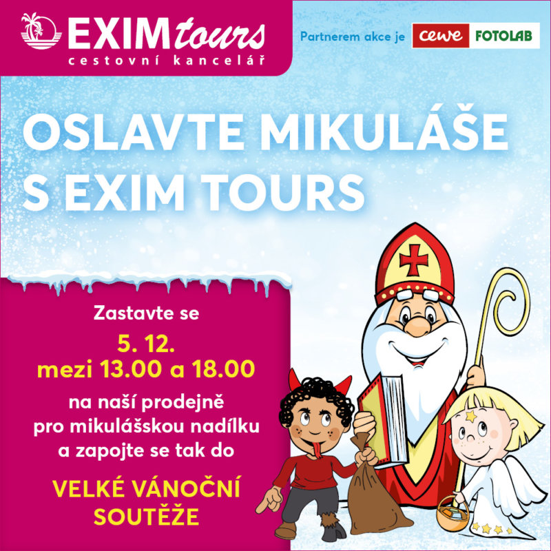 Oslavte Mikuláše s EXIM Tours v Homepark Zličin