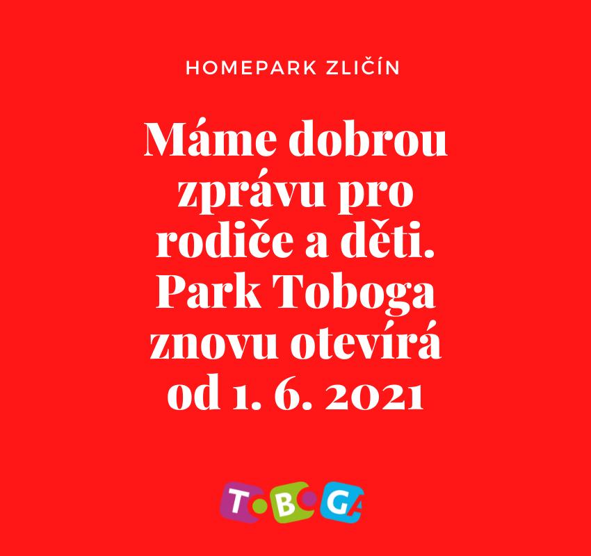 Covid aktualizace - Aktuální otevírací doba - Homepark Zličín  - Toboga Reopening
