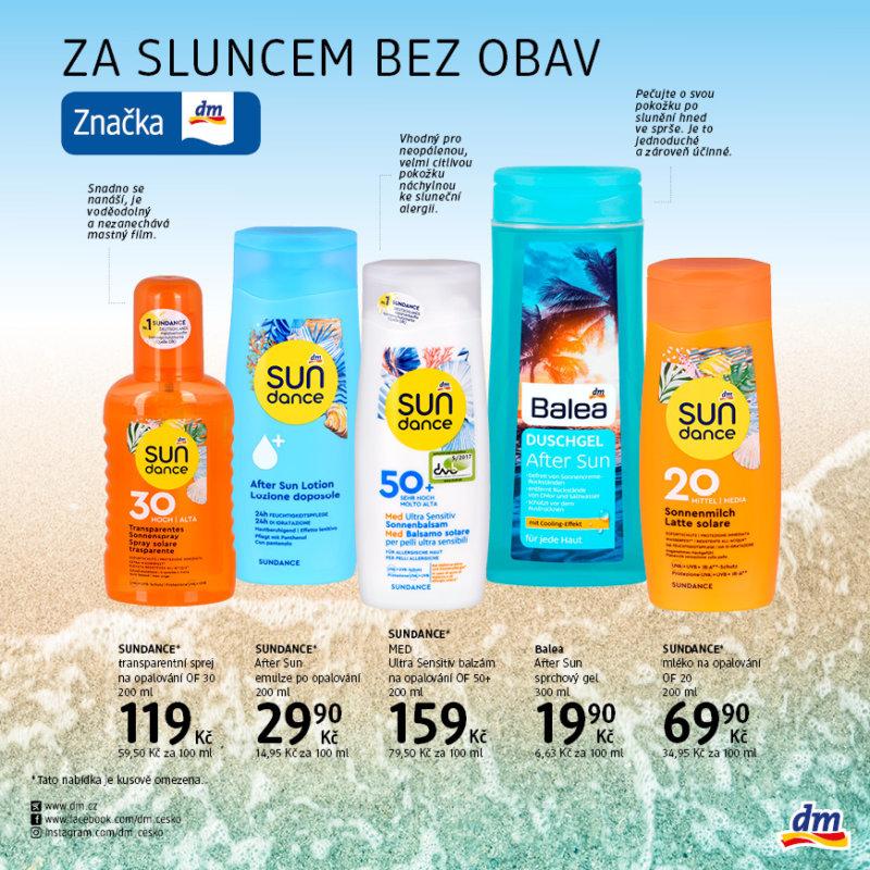Za sluncem bez obav dm drogerie Homepark Zličín
