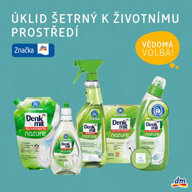 Šetrný úklid dm drogerie Homepark Zličín