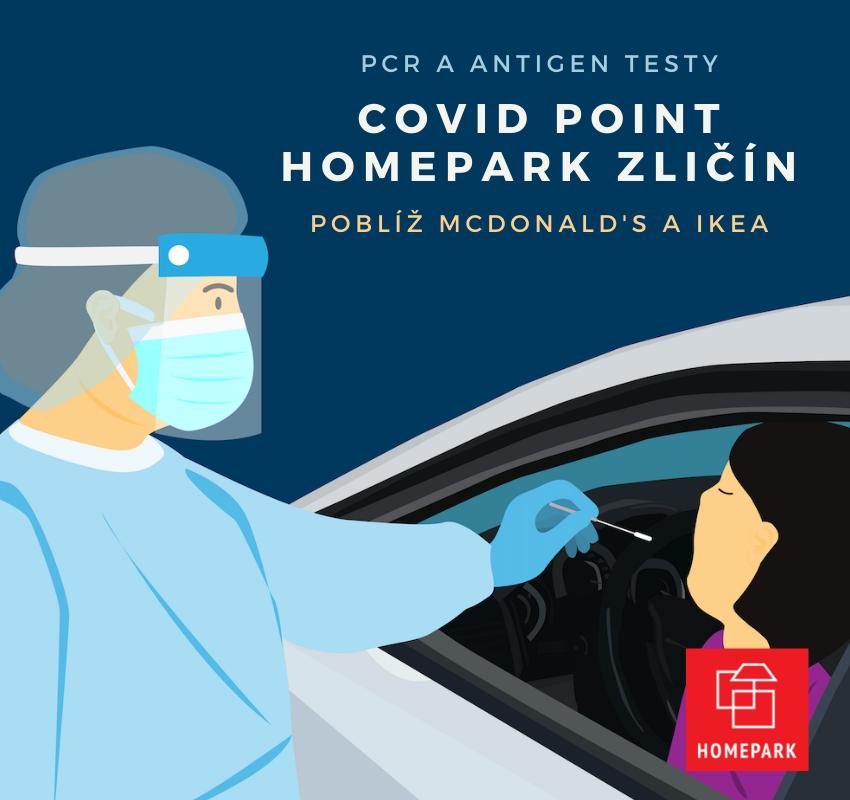 Homepark Zličín Covid Point PCR Antigen testy a testování